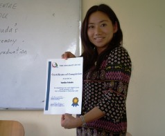 Graduation Certificate from the University of Fiji
